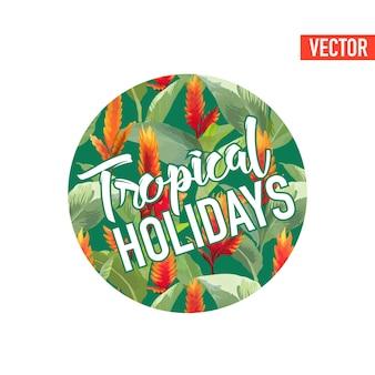 Conception graphique de feuilles et de fleurs tropicales vintage pour t-shirt, mode, imprimés en