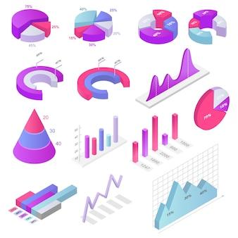 Conception graphique graphique vectoriel diagramme infochart graphique pour illustration de présentation de rapport