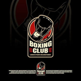 Conception graphique de logo de boxe