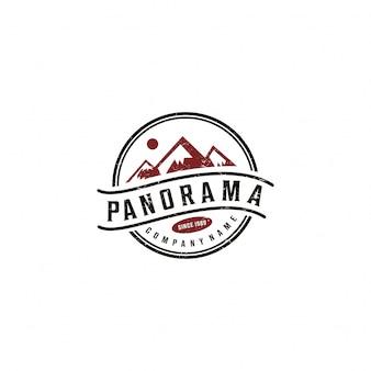 Conception graphique de logo de montagne