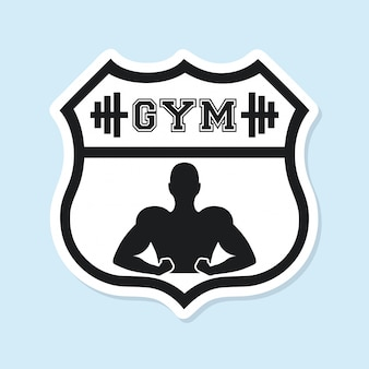 Conception graphique logo sport gym