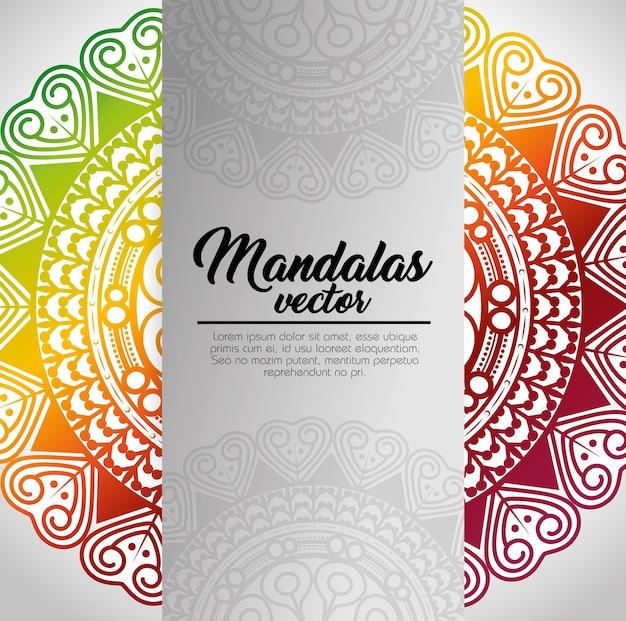 Conception graphique mandala modèle vintage illustration vectorielle