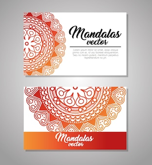Conception graphique mandala modèle vintage illustration vectorielle