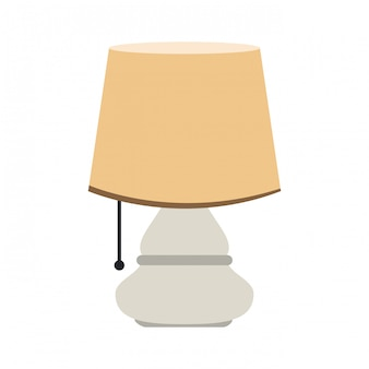 Conception graphique de nuit lampe vector illustration