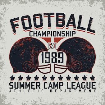 Conception graphique de t-shirt sport grunge, timbre imprimé sport vintage, emblème de typographie de vêtements de sport, design créatif