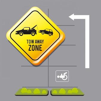 Conception graphique de la zone de stationnement