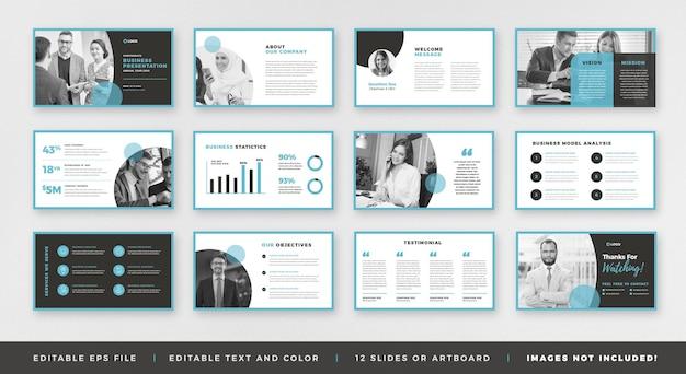 Conception de guide de brochure de présentation d'entreprise ou modèle de diapositive de plate-forme de présentation ou curseur de guide de vente