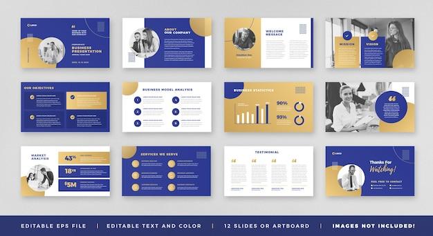 Conception de guide de brochure de présentation d'entreprise ou powerpoint