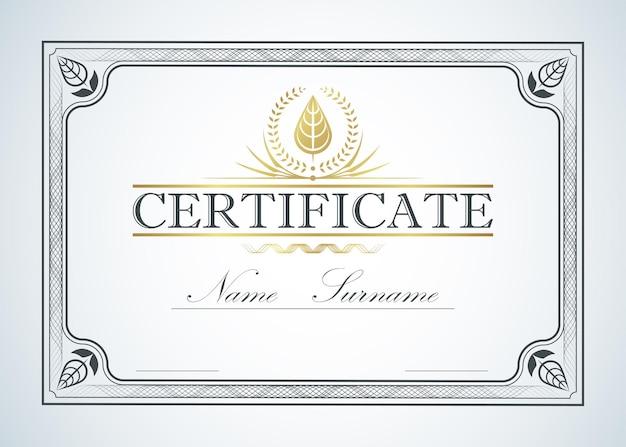Conception de guide de modèle de cadre de bordure de certificat. style chinois. luxe vintage rétro pour le texte.