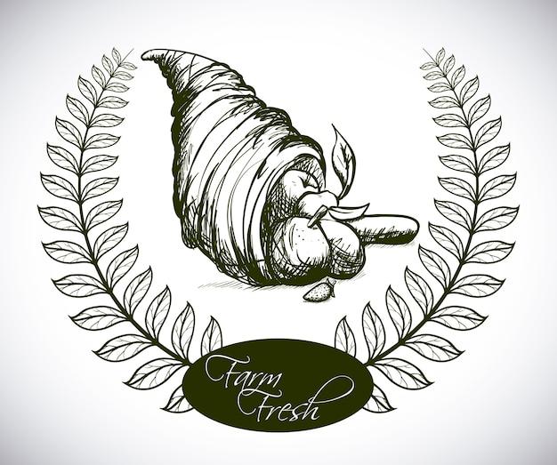 Conception de guirlande au cours de l'illustration vectorielle fond gris