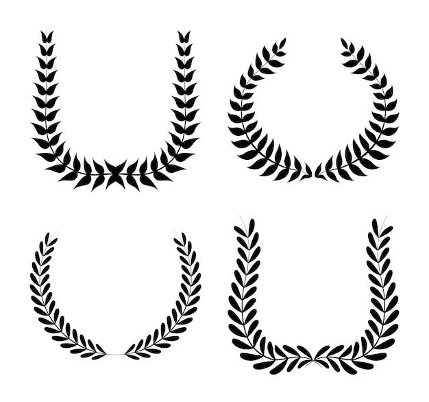 Conception de guirlande sur illustration vectorielle fond blanc