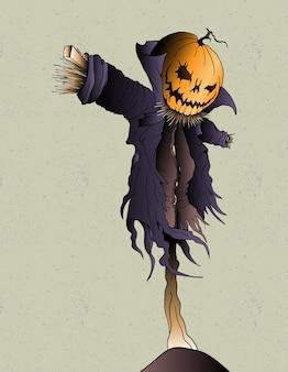 Conception d'halloween citrouille
