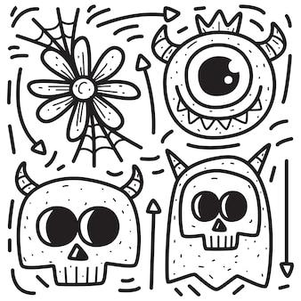 Conception d'halloween de dessin animé doodle