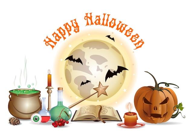 Conception d'halloween avec laboratoire de l'assistant. illustration vectorielle
