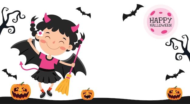Conception d'halloween avec personnage de dessin animé