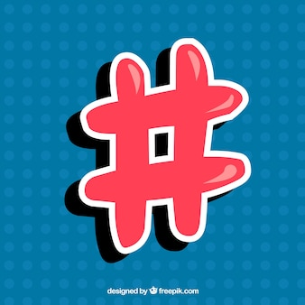 Conception de hashtag moderne