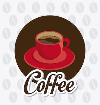 Conception de l'heure du café.