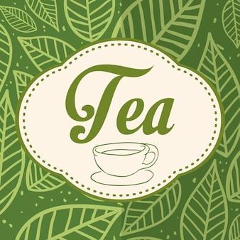 Conception de l'heure du thé