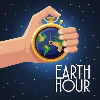 Conception d'heure de la terre