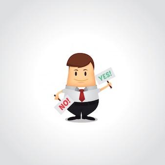 Conception de l'homme d'affaires