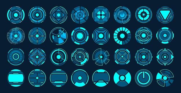 Conception de hud interface futuriste de 32 cercle.