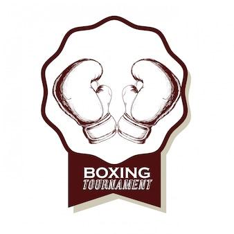 Conception d'icône de boxe