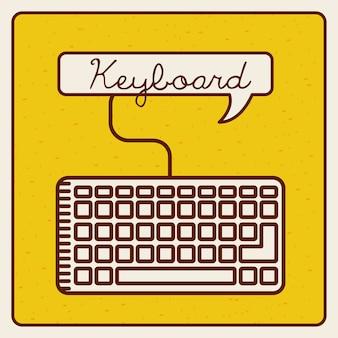 Conception d'icône de clavier, illustration vectorielle illustration eps10