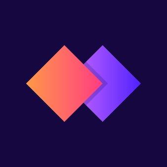 Conception d'icône dégradé logo entreprise moderne