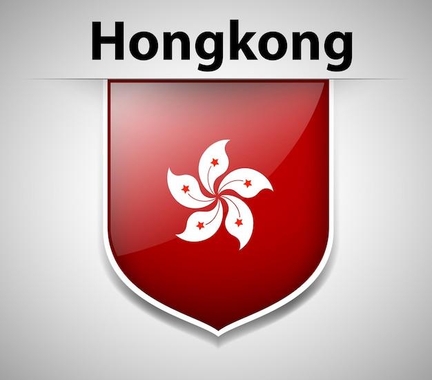 Conception d'icône de drapeau pour hong kong