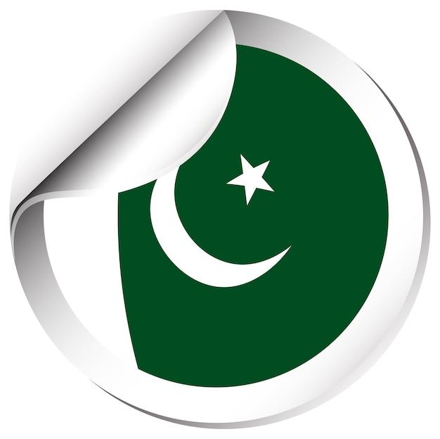 Conception d'icône de drapeau pour le pakistan