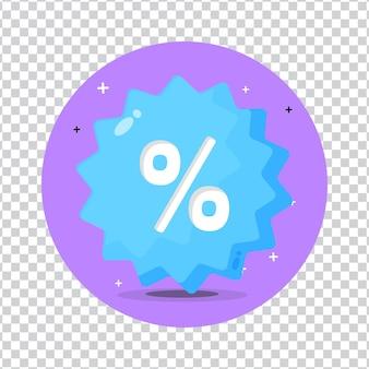 Conception d'icône d'étiquette de vente