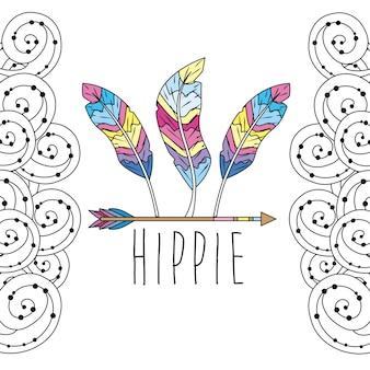 Conception d'icône hippie