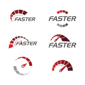 Conception d'icône d'illustration vectorielle de compteur de vitesse