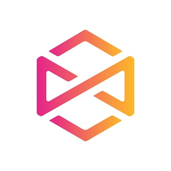 Conception d'icône infinity hexagon