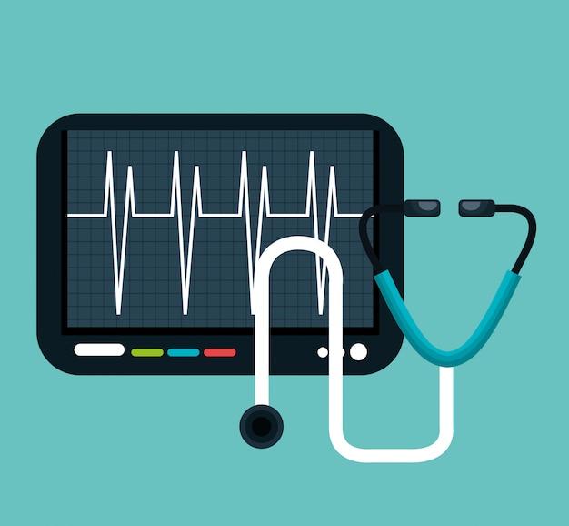 Conception d'icône isolé de soins de santé numériques