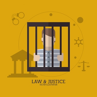 Conception d'icône law and justice