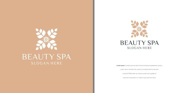 Conception d'icône de logo de fleur de beauté symbole universel de prime créative signe élégant de boutique de gemmes.