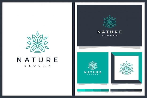 Conception d'icône logo minimalis feuille verte