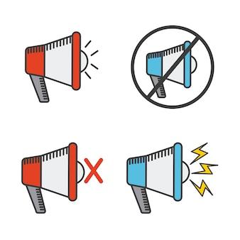Conception d'icône mégaphone, illustration vectorielle illustration eps10