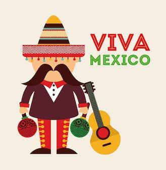 Conception d'icône mexicaine