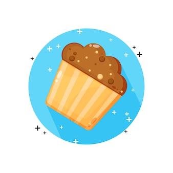 Conception d'icône de muffin