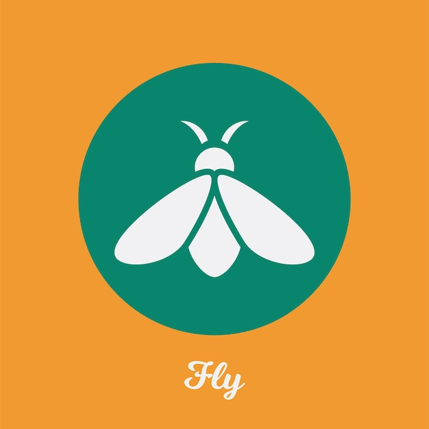 Conception d'icône plate de vol, élément de symbole de logo