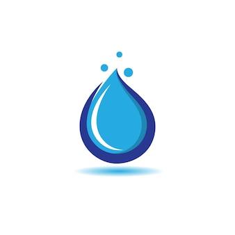 Conception d'icône de symbole de goutte d'eau
