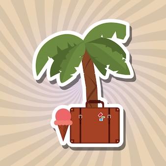 Conception d'icône de vacances