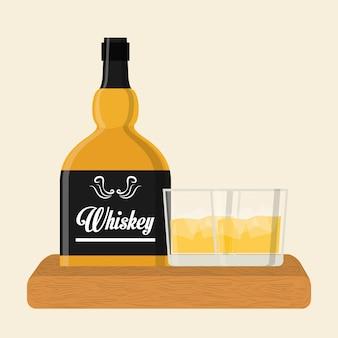 Conception d'icône de whisky
