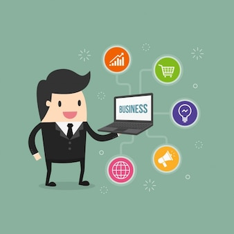 Conception des icônes d'affaires