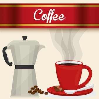 Conception d'icônes cofee