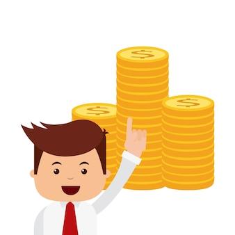 Conception d'icônes de finances d'entreprise personnes