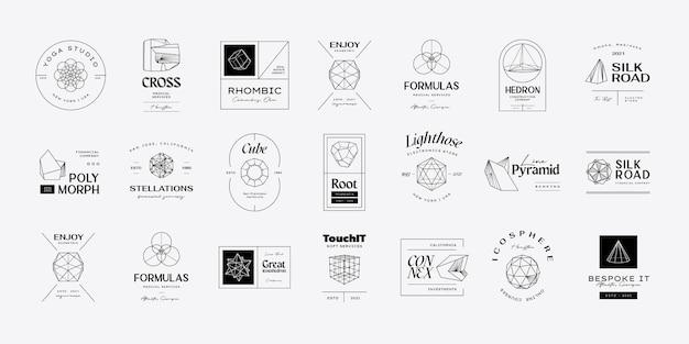 Conception d'icônes géométriques modernes abstraites vectorielles dans lstyle branché
