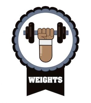 Conception d'icônes de gym et fitness